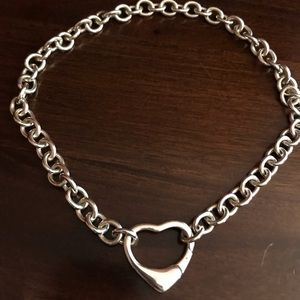 Jewelry - Solid Sterling Silver Heart Necklace
